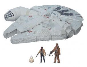 Star Wars Episodio 7 Veicolo Millenium Falcon con Personaggi 2015 Hasbro