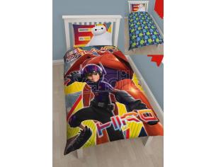 Copripiumino Baymax hiro Big Hero 6 Disney 135x200 cuscino reversibile