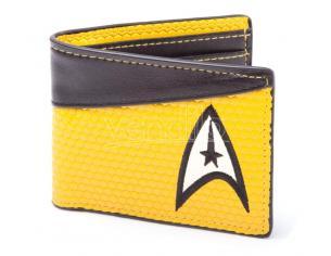 Star Trek Portafoglio Wallet Bifold Command Logo Yellow Bioworld