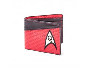 Star Trek Portafoglio Wallet Bifold Engineering Logo Red Bioworld
