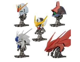 BANDAI SHOKUGAN GUNDAM MACHINE HEAD DISPLAY (10) MINI FIGURA
