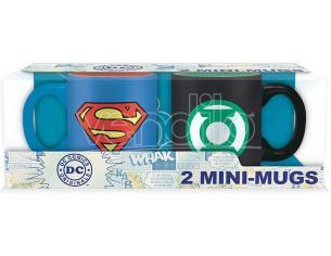 SET 2 MINI TAZZE DC-SUPERMAN&GREEN LANT. MUG - GADGET
