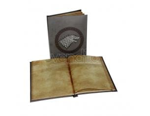 SD TOYS GAME OF THRONES STARK NOTEBOOK W/ LIGHT TACCUINO